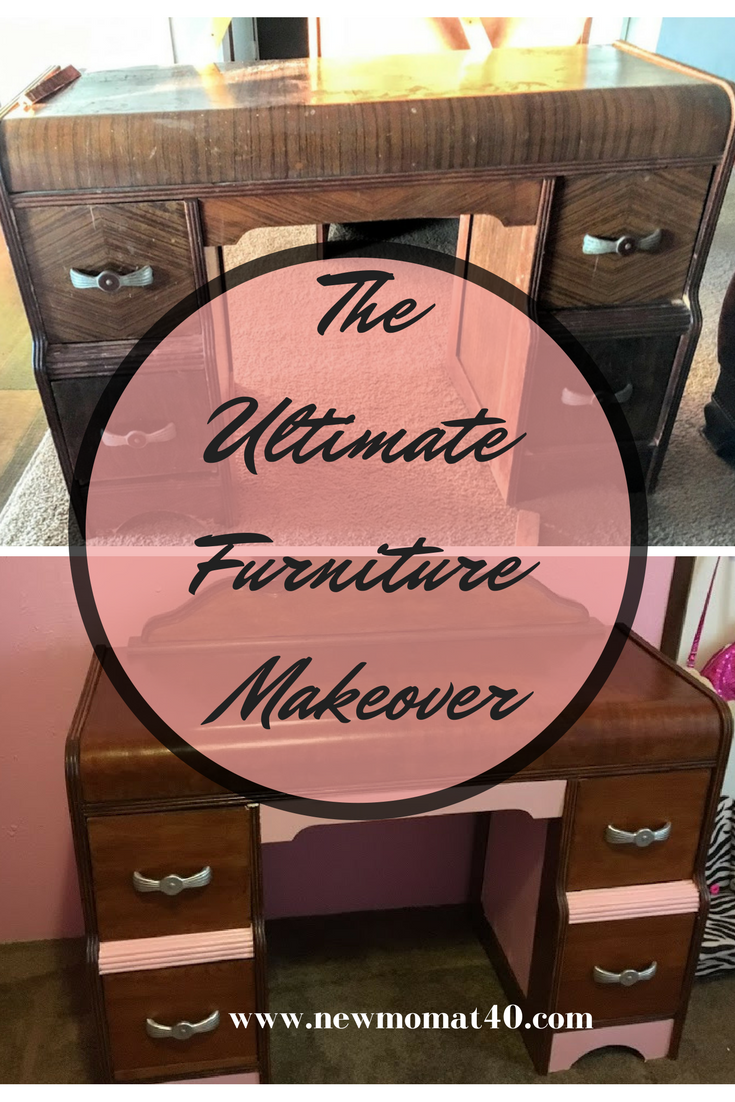 The Ultimate Furniture Makeover Waterfall Vanity And Dresser New Mom At 40